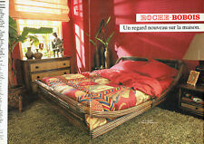 Publicité Advertising 127  1984   Roche-Bobois lit Koobo  Philippines  (2pages)