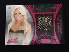 CRYSTAL HARRIS-HEFNER BENCHWARMER BIKINI SWATCH #'d 1/3- PINK ARCHIVES NEXT DOOR