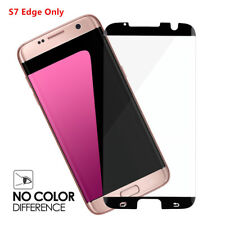 10 Pcs For Samsung Galaxy S7 Edge Tempered Glass Screen Protector Black