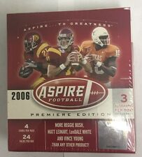 2006 Sage Aspire Football Hobby Box Factory Sealed 3 Autographs