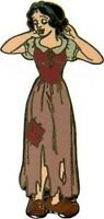 Disney Pin 2846 DLR Original Dress Princess Series Snow White Brown Dress