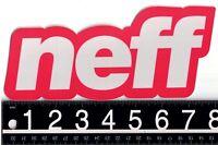 NEFF 7.5 in x 3.5 in STICKER Neff Headwear Snowboard Skate Red/Silver Decal