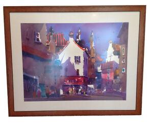 Frank Francese European City Original Watercolor Painting NWS