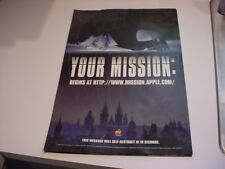 """1996 MISSION IMPOSSIBLE Tom Cruise APPLE PROMO POSTERs 19""""x 13"""""""