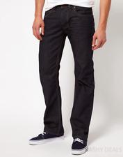 Diesel Larkee 8Z8 Regular Straight Made-In-Italy Man's Jeans Dark Blue 30W/36L
