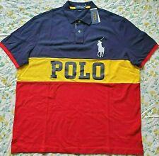 Mens Polo Ralph Lauren Classic Fit XL Polo Shirt Big Pony Colorblock