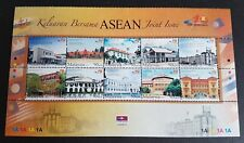 2007 Malaysia ASEAN Joint Issue Architecture Buildings 10v Stamps sheetlet Block