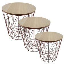 Metall Drahtkorb Drahtkörbe Tisch Korb mit Deckel P-150 kupfer in 3 Größen