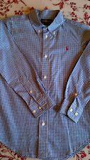 RALPH LAUREN age 7yrs blue/white check shirt EXCELLENT CONDITION