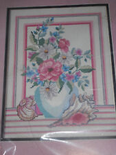 Shells and Floral Vase Counted Cross Stitch Kit by Golden Bee 60278