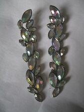 NEW LOOK EARRINGS LARGE STATEMENT DANGLE CRYSTAL RHINESTONE SPARKLY SILVER