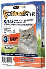 VetGuard for Cats - The complete Flea & Tick Treatment - 3 Month Supply