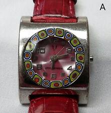Vintage Antica Murrina Queen Designer Watch Women's Ladies Red Band Pink Face