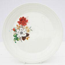 VINTAGE Royal ART Pottery Insalata Piatto Floreale Rose Rosse