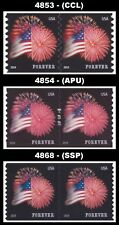 2014 Pairs Star Spangled Banner Forever 4853 4854 4868 Set of 3 MNH - Buy Now