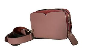 Kate Spade Camera Bag Pink Leather And Red Suede