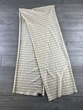 "Patagonia Wool Scarf Stripes Yellow/Brown/Cream 62"" One size (I194)"