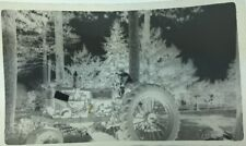 Vintage Photo Negative Old Tractor Child Driving 1940's 50's 60's Farm Equipment