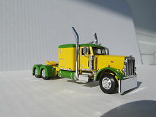 DCP 1/64 SCALE 379 PETERBILT 60'' BUNK GREEN & YELLOW (TRACTOR ONLY)