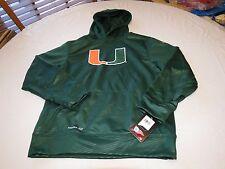 University Miami Hurricanes Youth boys L Therma fit RARE Nike hoodie sweat shirt