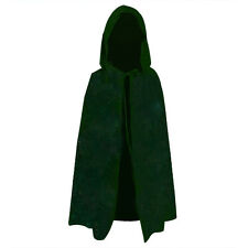New Vampire Style Velvet Hooded Cloak Wicca Robe Witches Capes Halloween Apparel