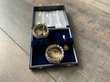 Antique Silver Salts and Spoons in Case