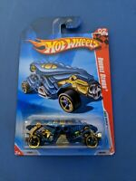 2010 Hot Wheels #186 Race World-Underground 2/4 DOUBLE DEMON Blue w/Black NEW