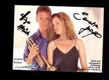 Holger Mück und Sandra Autogrammkarte Original Signiert ## BC 67644