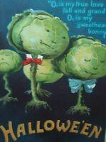 Vintage Halloween Postcard Ellen Clapsaddle Anthropomorphic Cabbage 978 Embossed