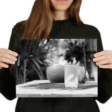 A4 BW-coco naturales joven Jugo Agua cartel 29.7X21cm280gsm #42706