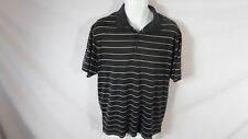Men's Black&White Striped NIKE GOLF Short Sleeved Athletic Fitness Shirt Sz M