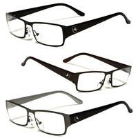 New Metal Fashion Retro Unisex Mens Womens Clear Lens Nerd Geek Glasses Eyewear
