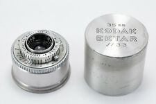 (20) Kodak Ektar 35/3.3 lens f/Ektra w/metal case EY14... great L@@K