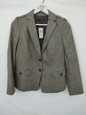 New Ann Taylor Suit Jacket Women's Size 8 P Brown Tweed Blazer Lined