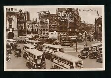 LONDON Piccadilly Circus Buses etc c1940/507s? RP PPC