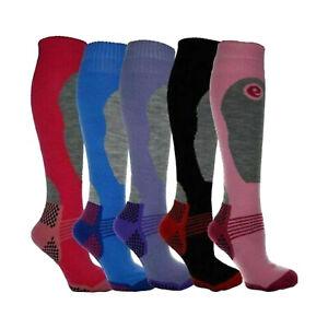 4 Pairs Ladies Thermal Padded Boot Socks for Hiking Walking Ski Winter UK