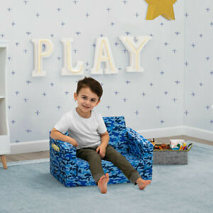Delta Children Cozee Chair To Lounger Blue Camo