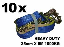 10x 35mm x 6M 1000KG TIE DOWN RATCHET STRAP HEAVY DUTY, QUALITY STRAPS