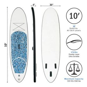 """Inflatable Stand Up Paddle Board, 10"""" Thick SUP with Premium Accessories and Car"""