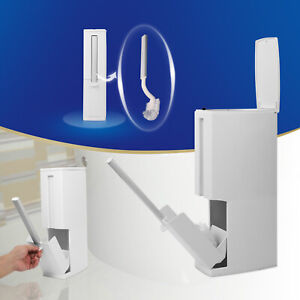 Toilet luxury integrated toilet dustbin plastic dustbin cleaning brush set