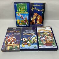 Disney VHS Video Bundle Santa Clause Mickey Magical Christmas Winnie Tramp 1123E
