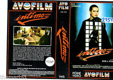 Locandina vhs INTIMO (1986)   AVO Video - originale - used