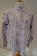 TOMMY HILFIGER Camicia di cotone rosa/blu colletto 40.6cm/41CM L 064 W