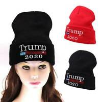Donald Trump 2020 Winter Knit Cap Make America Great 2 Beanie Warm Ski Hat