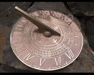 BEAUTIFUL BRONZE SUNDIAL High Quality Made Locally In Dandenong Melbourne