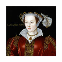 Scrotts Attributed Portrait Catherine Parr Painting Wall Art Canvas Print 24X24