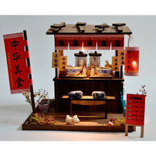 DIY Wooden Dollhouse Miniature Kit w/ Furniture, Light Noodles Shop Gifts