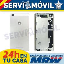 Chasis Trasero Para Huawei P8 Gris Carcasa Tapa Marco Blanco Blanca Plata