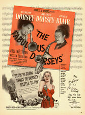 1947 vintage movie AD, 'The Fabulous Dorseys', Janet Blair Singer  -022114