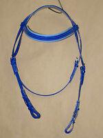 PVC Snaffle Bridle Head - Blue/LtBlue